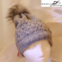 Grey knitted bobble hat  YO10/YO15/YO16